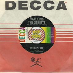 WEBB PIERCE Walking The Streets COUNTRY WESTERN 45 RPM RECORD
