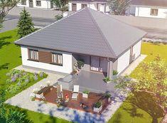 Projekt domu Tryton teriva 98,96 m2 - koszt budowy 207 tys. zł - EXTRADOM Design Case, Exterior Design, Gazebo, House Plans, Sweet Home, Outdoor Structures, Outdoor Decor, Green, Home Decor