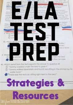 ELA Test Prep- Strategies and resources for helping your students rock the ISTEP or PARCC
