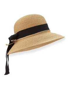 cc63cab10016c Helen Kaminski Newport Standard Raffia Hat Natural Black  hat  womens  Summer Hats For. Summer Hats For WomenFedora ...