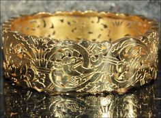 Antique French Bangle Bracelet with Griffin Motif, 18k Pierced & from vsterling on Ruby Lane