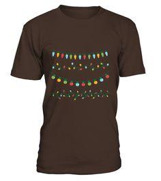Christmas Lights Ornament T-shirt Cute Christmas T-shirt