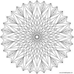 Star Mandala to color or use for embroidery