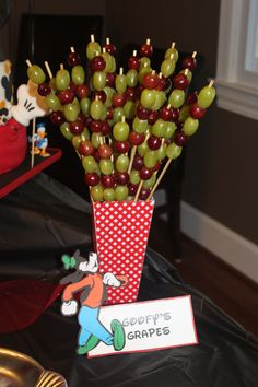Goofy's Grapes-Mickey Mouse Birthday Party I plan #Disney, please follow me.  courtney@travelwiththemagic.com