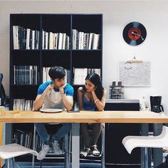Sometimes you meet a person and you just click—you're comfortable with them like you've known them your whole life and you don't have to pretend to be anyone or anything. Filipino Girl, James Reid, Nadine Lustre, Furniture, Relationship Goals, Teen, Female Face, Home Decor, Sweet Couple