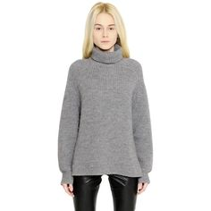 ISABEL MARANT ÉTOILE Oversized Wool Blend Turtleneck Sweater ($500) ❤ liked on Polyvore