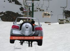 Guerilla Marketing on the slopes / Vehicle Guerilla marketing