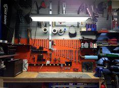 x Orange Metal Pegboard Tool Board Panel