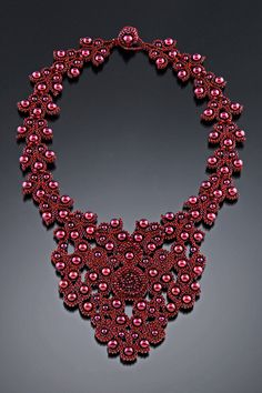 Red Empress - Necklace by Kathy King - http://www.kathykingjewelry.com