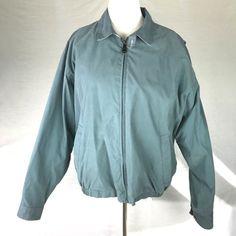 Trader Bay Light Green Poly/Nylon Windbreaker Light Coat Jacket Mens XL #TraderBay #BasicJacket