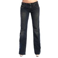 Stitches Stitch's Women's Faded Bootleg Jeans