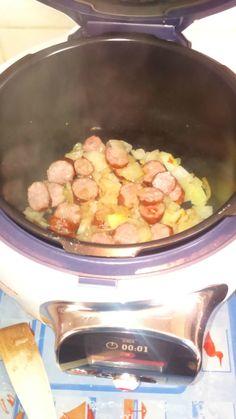 Saucisses fumées aux pommes de terre