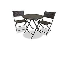 Cosco Products 88510 Blke Outdoor Jamaica 4 Pc Resin