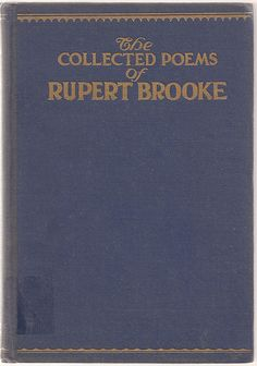 The Collected Poems of Rupert Brooke - Vintage Poems Poetry Book - 1915 - $16.00