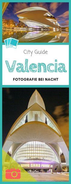 Besonders Valencia´s Kunstpalast und Opernhaus in der Stadt der Wissenschaft und Künste bieten sich hervorragend für die Fotografie zu blauen Stunde und bei Nacht an.  #Valencia #Spanien #Reisefotografie #Fotografie