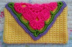 Granny Crochet Fold Over Envelope
