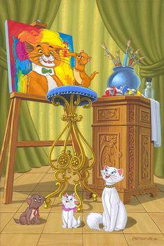 The Aristocats ~ i loved this Disney classic Walt Disney, Disney Cats, Disney Magic, Disney Animated Movies, Disney Films, Disney And Dreamworks, Disney Pixar, Disney And More, Disney Love