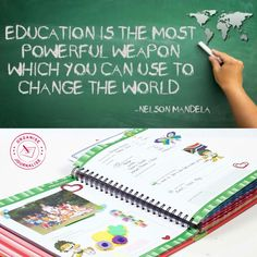 """""""Education is the most powerful weapon which you can use to change the world."""" ~ Nelson Mandela Good luck to all those heading today! Poem Quotes, Poems, I School, Back To School, School Memories, Write It Down, Nelson Mandela, Change The World, Weapon"""