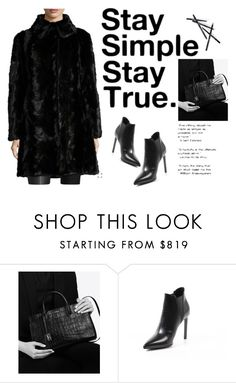 """Simply black!"" by ieva-galvina ❤ liked on Polyvore featuring Yves Saint Laurent, Gorski and Chanel"