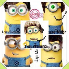 One Direction minions soooooooo funny