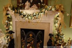 Christmas mantel in the master bedroom in the Victorian home belonging to Governor Roy and Marie Barnes.