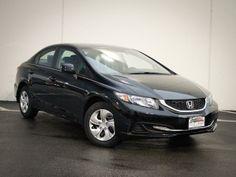 2014 Honda Civic LX LX 4dr Sedan CVT Sedan 4 Doors Black for sale in Lansing, IL Source: http://www.usedcarsgroup.com/used-honda-for-sale-in-lansing-il