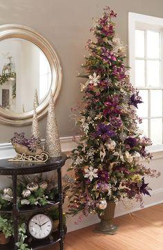 Frosty plum Christmas tree