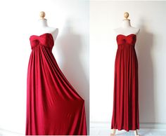 Gorgeous Dark Red Evening Dress by pinksandcloset on Etsy, $55.00