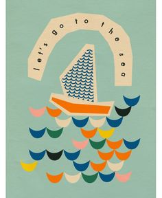 Paper boat illustrated