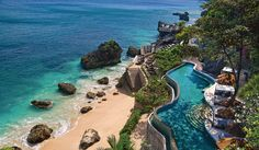 Bali is sun-drenched with snow-white beaches, picturesque villages shadowed by towering volcanoes and monkeys as frisky as naughty children. At Ayana Resort