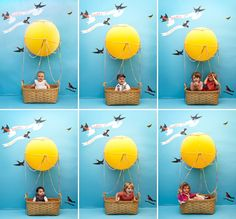 huge hot air balloon advertising   What an adorable and fun idea for a kid's birthday party or even a ...