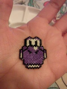 Random seed bead purple Yoshi brick stitch I made