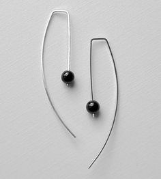 Black Onyx Arc Earrings by Kusu on Scoutmob