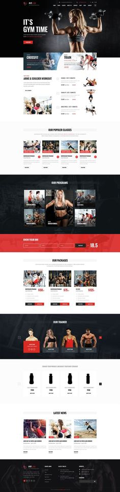 FITLAB is a PSD template for health, sports, #gym and #fitnesswebsites. It is a highly suitable template for #fitness companies as well as gyms or sport clubs. Here you will get 17 layered #PSD with easily customizbale layer with pixel perfect design With 2 different Home version. #PSDTemplate: