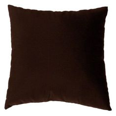 Cushion Source 17 x 17 in. Solid Sunbrella Indoor / Outdoor Throw Pillow Bay Brown - E63AI-5432, Durable