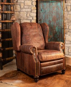 The rugged Cowboy Recliner is a favorite at Adobe Interiors. For more information call/text us at We ship worldwide! Furniture Making, Cool Furniture, Living Room Furniture, Cabin Furniture, Furniture Design, Modern Southwest Decor, Southwest Style, Western Kitchen Decor, Log Home Interiors