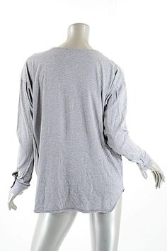James Perse James Heather Cotton Knit T Shirt Gray