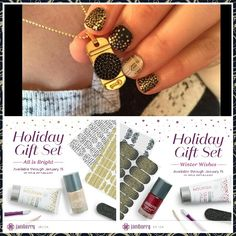 Found My New Year Look!!! Just need heat to apply...get yours at www.summergirl.jamberrynails.net Jamberry Christmas, Jamberry Consultant, New Years Look, Nail Care, How To Apply, Nails, Holiday, Gifts, Finger Nails