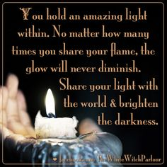 Be the light, lightworker, a light within, inspiration, awakening, soul, white witch, witch, magick, heal the world, help others, oneness, book of shadows, meditation, love, peace, bohemian, hippie, gypsy, compassion, heart chakra https://www.facebook.com/TheWhiteWitchParlour