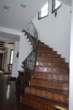 Subtle tile stair risers   Gary M. Lane