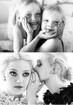 The Fannings, Dakota Fanning, Elle Fanning. #DakotaFanning #ElleFanning #celebrities #photography