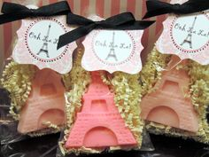 10 Eiffel Tower Soap Party Favors Bridal Shower by SweetbodySoaps, $25.00