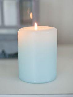 Aqua Pastel Pillar Candle