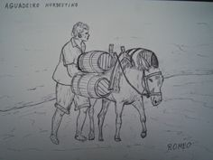 ROMEO ZANCHETT - DESENHOS ORIGINAIS: AGUADEIRO DO NORDESTE - Por Nicéas R. Zanchett