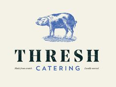 Thresh Catering Brand designed by JT Grauke. Connect with them on Dribbble; Catering Logo, Catering Companies, Branding Design, Logo Design, Logos, Hustle, Bond, Spice, Brother