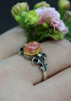 Ring Stefanie rosa getragen_2 Gemstone Rings, Gemstones, Silver, Jewelry, Accessories, Rhinestones, Beads, Pink Jewelry, Valentines Day