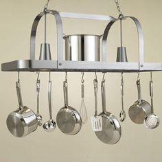 I pinned this Baker Hanging Pot Rack from the Tidy Kitchen event at Joss and Main!