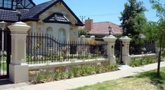 Get tips on designing attractive privacy fencing. Plus learn the right height for a privacy fence., Front yard fence, Fences and House fence design, Fences, Backyard fences and Fencing.