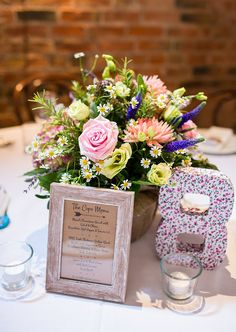 Table Numbers Pretty Natural Floral Barn Wedding http://www.johastingsphotography.co.uk/