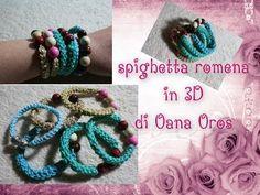 spighetta romena 3D all'uncinetto - YouTube ♡ Teresa Restegui http://www.pinterest.com/teretegui/ ♡